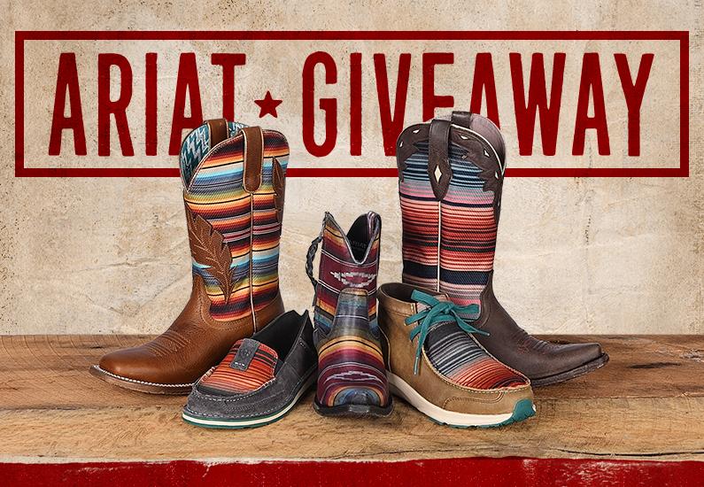 Ariat Fashion Footwear Giveaway 2018