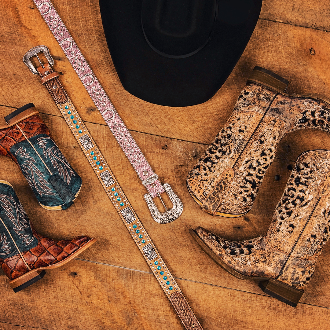 5c7bd0c48e8 Kids will shine this rodeo season with our studded belts and intricately  designed boots built to kick the dust up.
